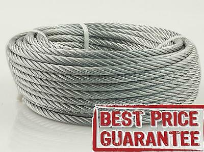 Steel Wire Rope ® Heavy Duty💯 Galvanized Metal Cable Best Price Certified Best