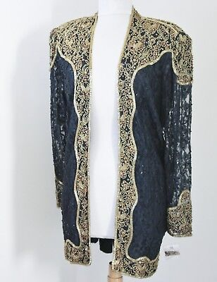 """Jasdee Vintage Jacket 32""""Inch Length Hand Work Bead & Sequins On Lace Style 5051"""