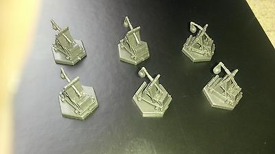 Dungeons and Dragons Plastic Black Ballista / Siege Engine x 6 (10mm scale)