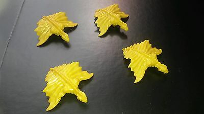 Dungeons and Dragons Plastic Gold Dragons x 4 (10mm scale)