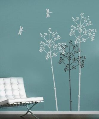 Going to Seed Wall Stencil - LARGE Reusable Floral Wall Stencils