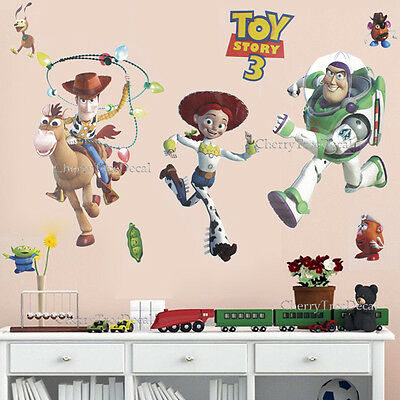 Huge TOY STORY Woody Buzz Jessie Wall Stickers Children Kids Bedroom Decor Decal