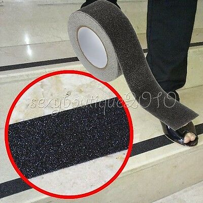 Outdoor Floor Non Slip Stair Treads Black Safety Anti Skid Tape High Traction