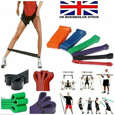 Resistance Bands loop set Exercise Tubes Loop Heavy Duty Pro Gym Extreme Yoga