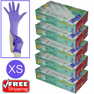 500pcs 3.5mil Soft Nitrile Powder-free Medical Exam Gloves (Latex Vinyl Free)XS