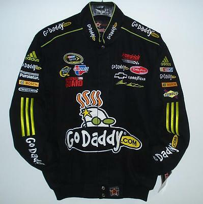 SIZE M Nascar MARK MARTIN GO DADDY Embroidered cotton Jacket NEW JH DESIGN MD