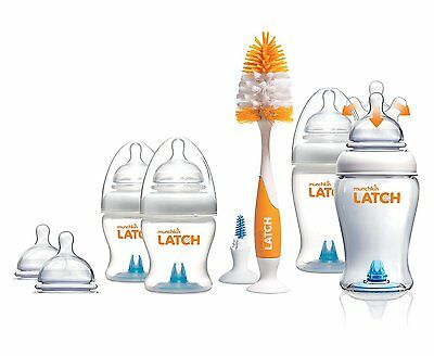 Munchkin LATCH Anti-Colic Baby Bottles, Newborn Starter Set. - Fast Delivery