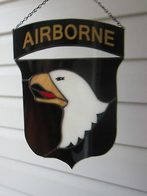 101 Airborne Stained Glass Unit Crest