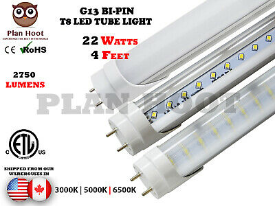 T8 G13 4Ft 20W Milky, Striped & Clear Lense 3000K, 5000K & 6500K Led Tube Lights
