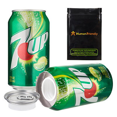 7-Up Diversion Safe Stash Can Secret Container w Smell Proof Bag FREE 2-3D S&H