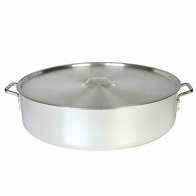 Thunder Group 30-Quart Heavy 6-mm Aluminum Braiser Pot with Lid, ALSKBP006 New