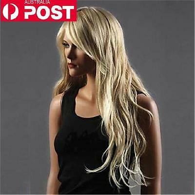 Blonde New Fashion Curly Long Women Heat Resistant Cosplay Full Hair Wig