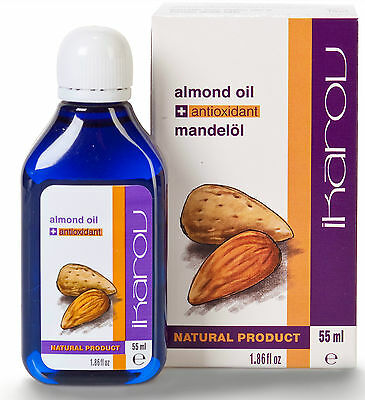 Almond Oil Natural 100 % PURE + Antioxidants Ikarov 55 ml