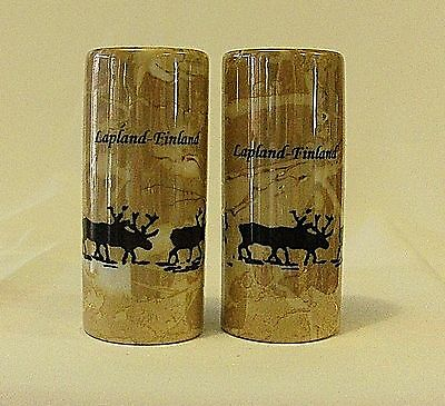 Lapland Finland souvenir salt and pepper shaker set studio polaris reindeer