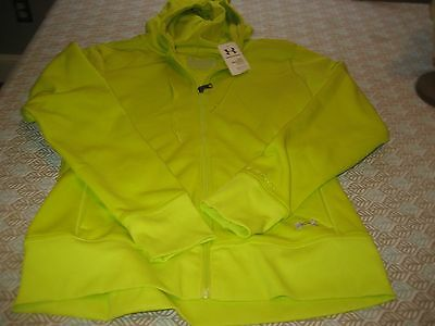WOMENS Under Armour COLDGEAR FULL ZIP STORM HOODIE L GREEN  NWT