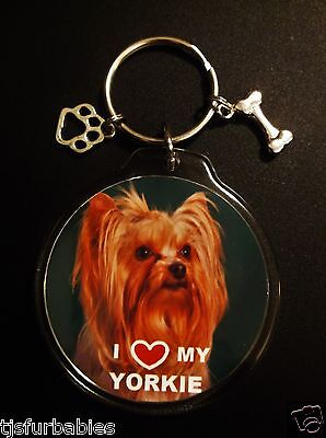 Yorkshire Terrier Yorkie Dog Keychain Key chain Great Pet Lovers Gift