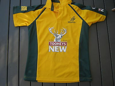 supporters polo by wallaby wallabies team rugby union gold size small adult