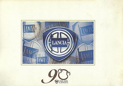 Lancia 90 1906-1996 • Brochure Folder with 10 luxury prints • Original Lancia