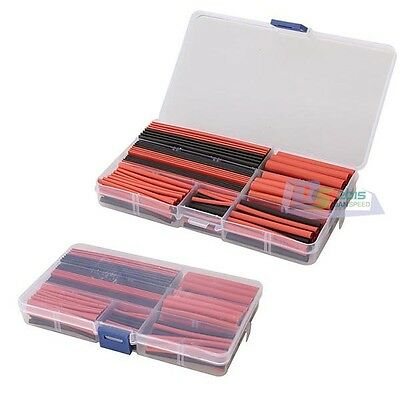 150pcs Black Red 2:1 Heat Shrink Tubing Tube Sleeving Sleeve Wrap Wire Kit Cable