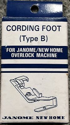 Janome Cording Foot Type B - Overlocker Serger My Lock Piping NEW Elna Lumina