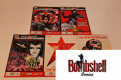 Bucky Barnes Winter Soldier 1 2 3 4 5 Complete Comic Lot Run Set Collection NM