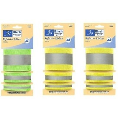 High Visibility Reflective Iron On Tape Set - 3 Sizes Bias Binding Fabric Sew