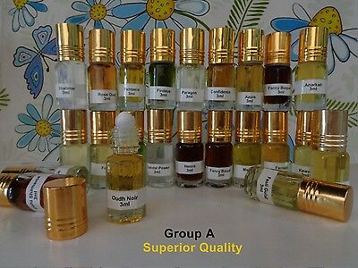 Superior Quality Indian Attar Oil 3 ml, Free from Alcohol Buy 2 Get 1 Free!!