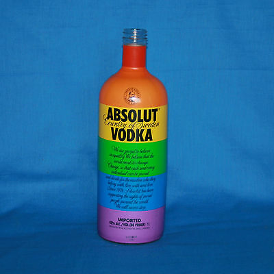 Absolut Vodka Limited Edition Rainbow Wrapped Gay Pride 1 Liter Bottle