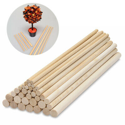 Hard Wood Stick Wooden Dowel Sweet Tree Kit Making Trunk Pole Hobby Craft NEW