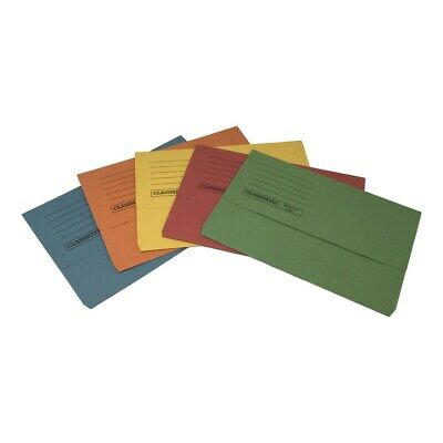 10 x 285gsm Foolscap Heavyweight Document Wallets A4 Paper Storage Files Folders