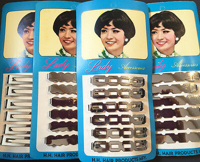 1960s Chrome Strong 6cm Hair Barrettes - Choice of Design..VERY Modern..