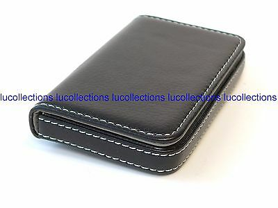 Black Pocket PU Leather Business ID Credit Card Holders Wallet H169