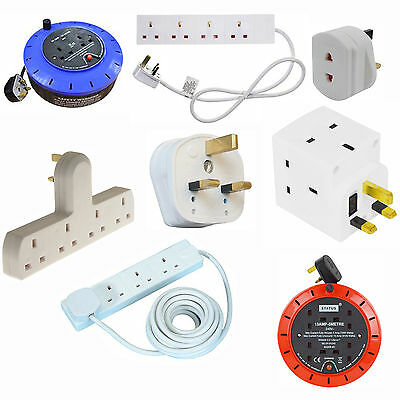 2 4 6 10 Gang Way 1M 2M 5M Uk Plug Extension Lead Cable Socket Ce Marked Mains