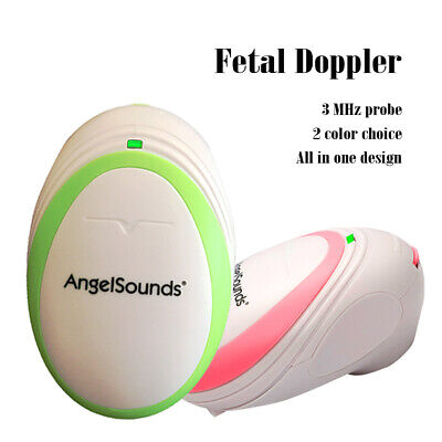 CE Angelsounds 3MHz Fetal Doppler Prenatal Heart Rate Monitor baby monitor+Cable