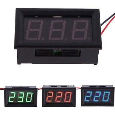 "0.56"" YB27A LED AC 60-500V Digital Voltmeter Home Use Voltage Display w/ 2 Wires"