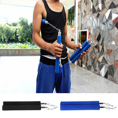 Martial Arts Nunchucks Weapon Foam Sponge Karate Ninja Nunchucks Metal Chain OE