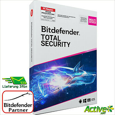 Bitdefender Total Security 2020 | 5PC 1Jahr | Multi-Device + VPN DE-Lizenz Rechn