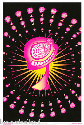 Poster:marijuana Theme: Mushrooms - Blacklight & Flocked - #2191F    Rap138 B