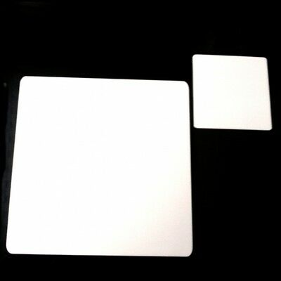 White Acrylic Square Shaped Placemats / Coasters