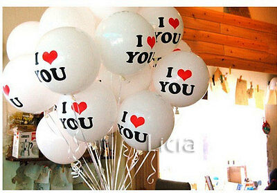 2x I LOVE YOU Helium Air Balloon Engagement Wedding Party Propose Birthday