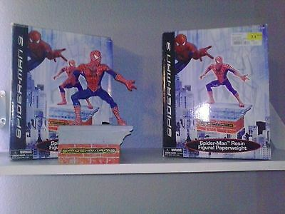 "TWO ""SPIDERMAN 3 era"" / 8"" STATUES New W/Box Includes FREE shipping"