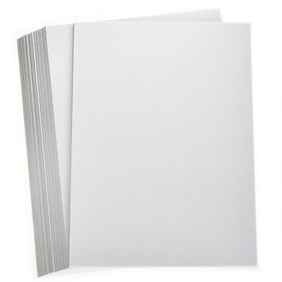 Hobbycraft White Premium Linen Card A4 for Invitation Cards Wedding Stationery