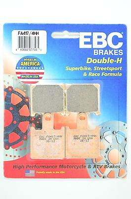 EBC Sintered Double-H Brake Pads - FA417/4HH for 07-12 KAW ZX6R Ninja Apps.