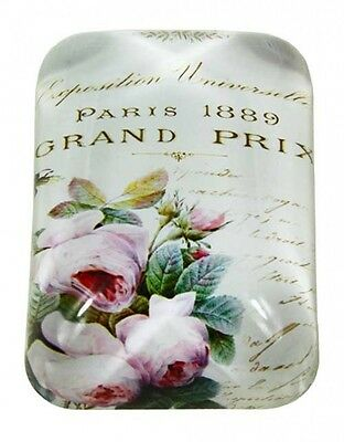 Beautiful Shabby Rose Paris Glass Paper Weight Office Study Home decor