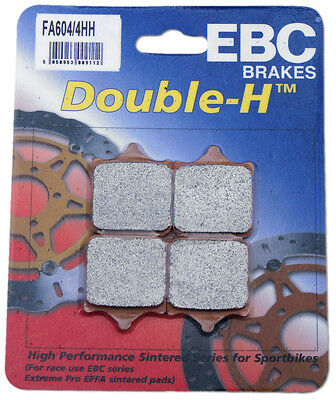 EBC Sintered Double-H Brake Pads - FA604/4HH for 10-16 BMW S1000RR Applications