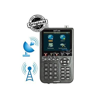 SATLINK ws 6909 DVB-S and DVB-T FINDER- MESUREUR DE CHAMPS SATELLITE ET TERRESTR
