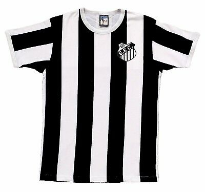 Santos FC 1960s Football T Shirt New Sizes S-XXL Embroidered