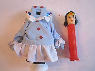 """The Jetson's Maid """"rosie"""" Doll - 5 1/2"""" Tall & The Wonder Woman Pez  - Hd"""
