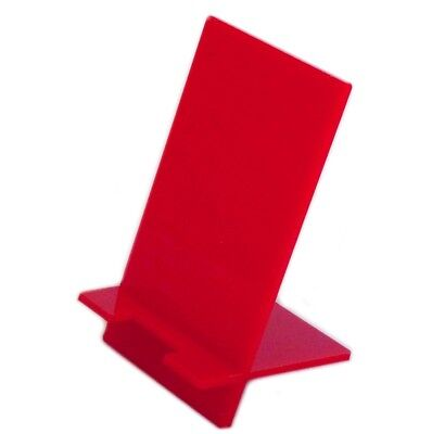 10 x Large Red Acrylic Desktop Mobile Phone Stand (12cm x 6.5cm Rest Area)