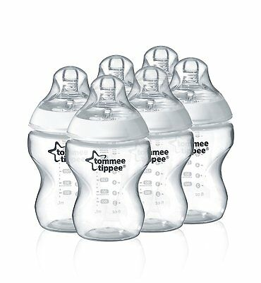 Tommee Tippee Closer to Nature Feeding Bottles (6-Pack)